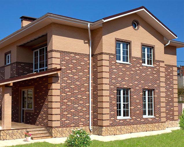 Малоэтажный жилой дом с использованием кирпичной кладки «Вавилон»