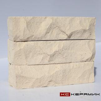 кирпич Горный камень Белый угловой КС-Керамик