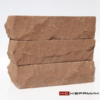 кирпич Горный камень Темный шоколад угловой КС-Керамик